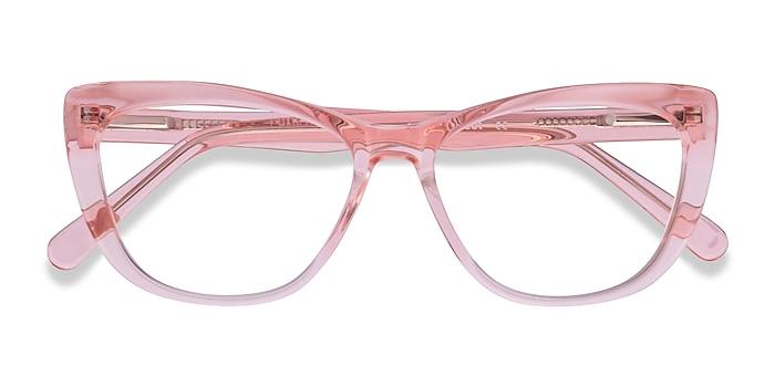 Clear Pink Charlotte -  Acetate Eyeglasses