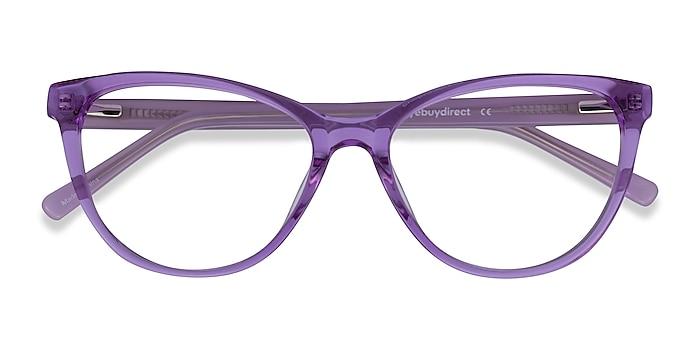 Clear Purple Sing -  Colorful Acetate Eyeglasses