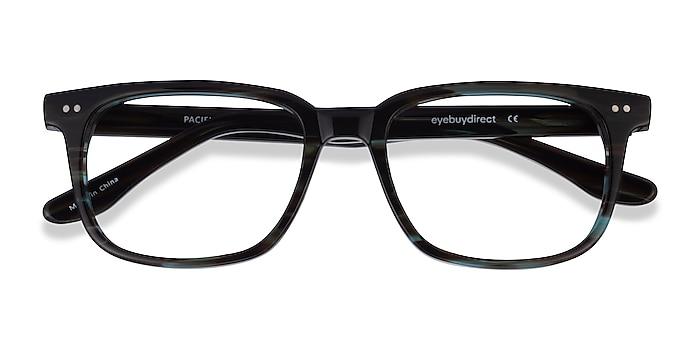 StripedBlue Pacific -  Acetate Eyeglasses