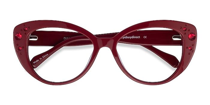 Burgundy Diamond -  Colorful Acetate Eyeglasses