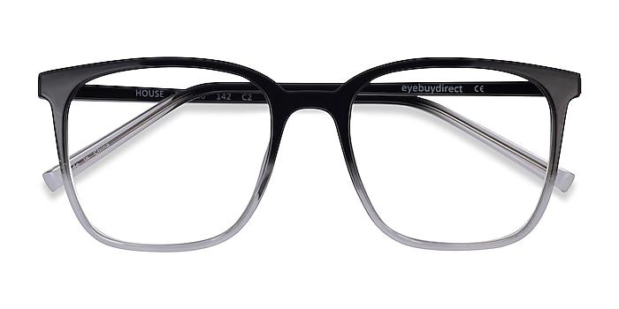 Gradient Black House -  Plastic Eyeglasses