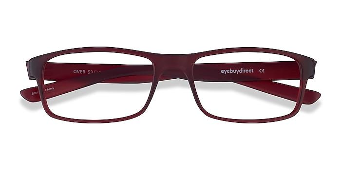 Dark Red Over -  Plastic Eyeglasses