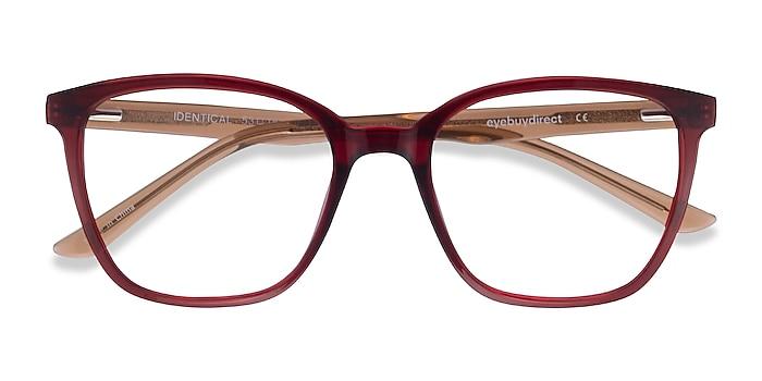 Clear Red & Clear Brown Identical -  Geek Plastic Eyeglasses