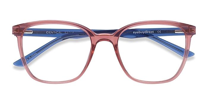 Clear Pink & Clear Blue Identical -  Geek Plastic Eyeglasses