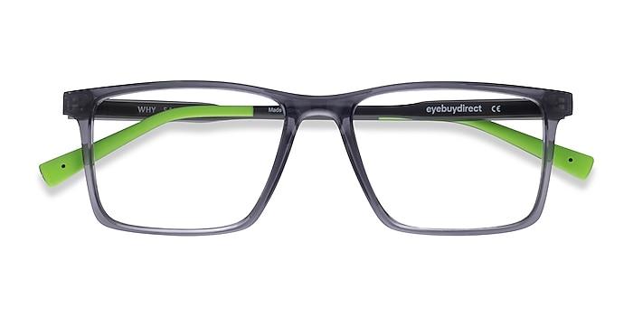 Gray Why -  Geek Plastic Eyeglasses