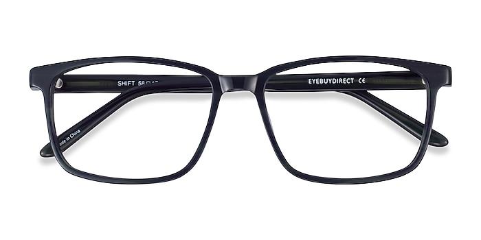 Green Black Striped Shift -  Acetate Eyeglasses