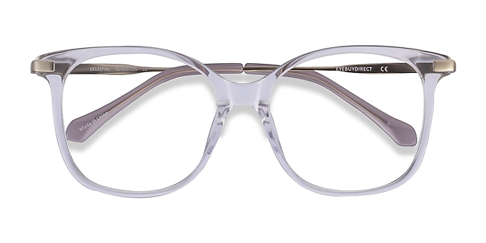 Clear  Gold Celestial -  Acetate Eyeglasses