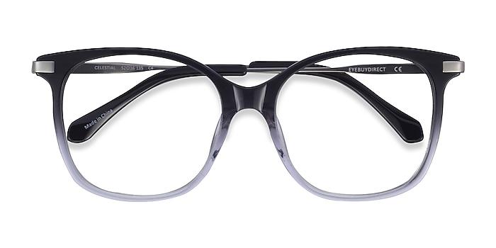 Black Clear Celestial -  Acetate Eyeglasses