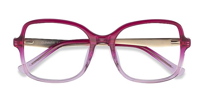 Clear Pink Clematis -  Acetate Eyeglasses