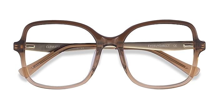 Clear Brown Clematis -  Acetate Eyeglasses