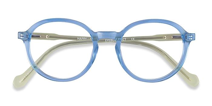 Clear Blue Green Happy -  Acétate Lunettes de vue