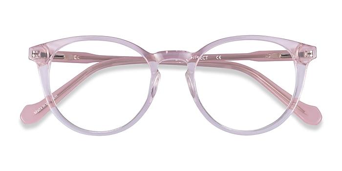 Clear Pink Amaze -  Acetate Eyeglasses
