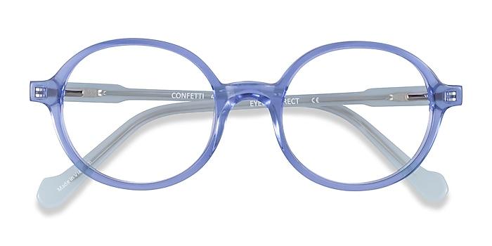 Clear Blue Confetti -  Acétate Lunettes de vue