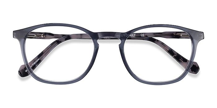 Clear Gray Tortoise Skate -  Acetate Eyeglasses