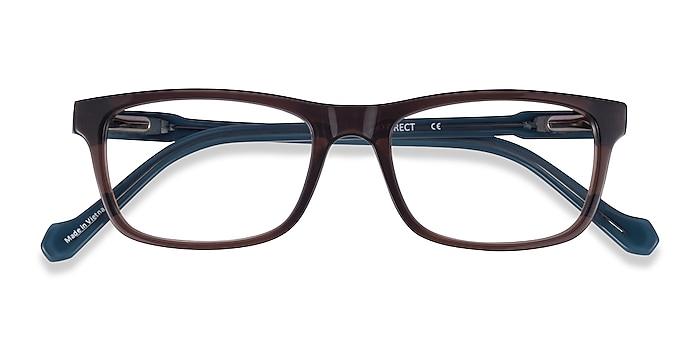 Brown Blue Scuba -  Acétate Lunettes de vue