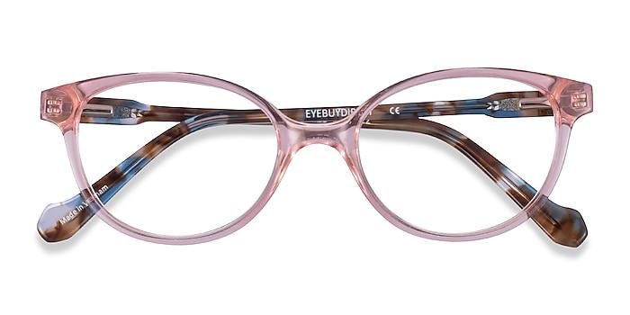 Clear Pink Floral Grenadine -  Acetate Eyeglasses