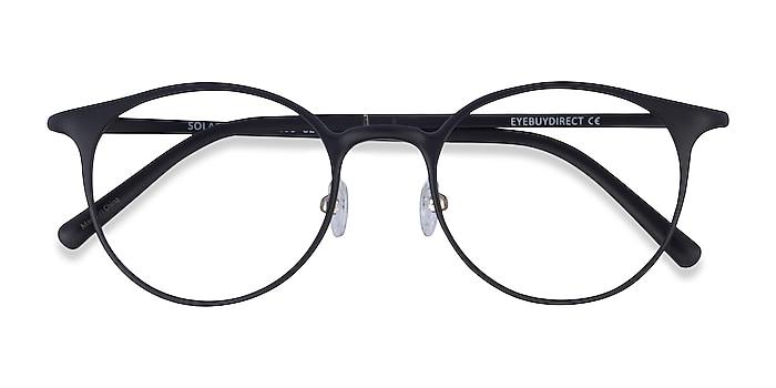 Matte Black Solace -  Plastique Lunettes de vue