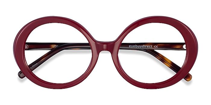 Burgundy Tortoise Voila -  Acetate Eyeglasses