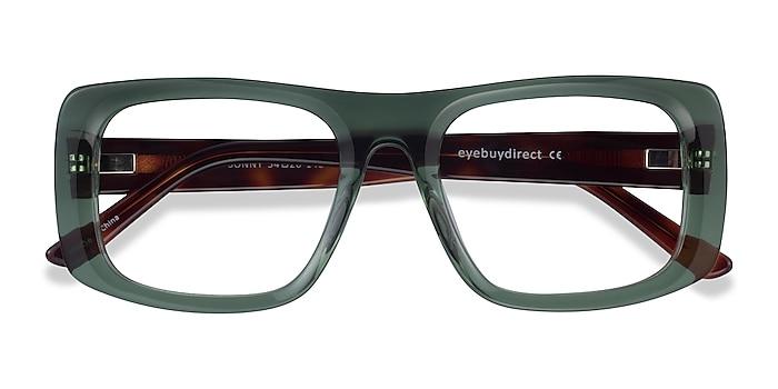 Clear Green Tortoise Sonny -  Acetate Eyeglasses