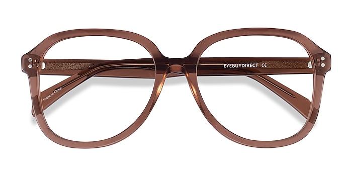 Clear Brown Tripp -  Acetate Eyeglasses
