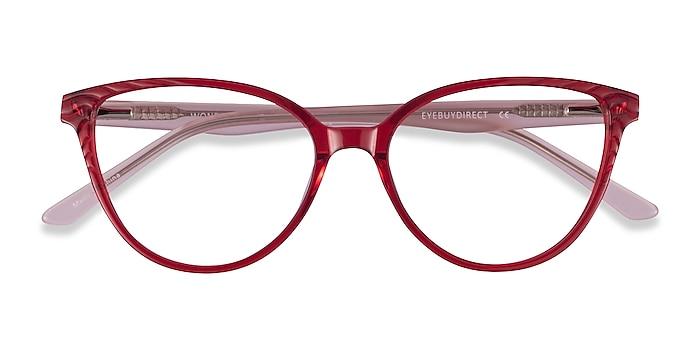 Clear Red Pink Wonder -  Colorful Acetate Eyeglasses