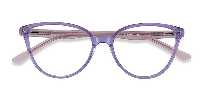 Clear Purple Pink Wonder -  Colorful Acetate Eyeglasses