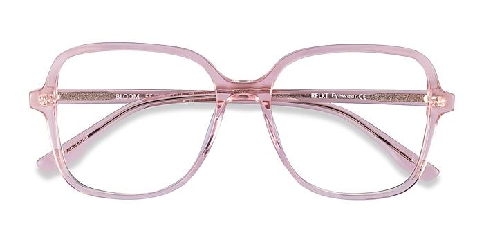 Clear Pink Bloom -  Fashion Acetate Eyeglasses