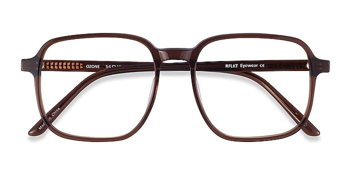 Clear Brown Ozone -  Fashion Acetate Eyeglasses