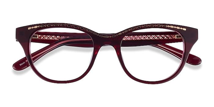 Burgundy Gold Arcady -  Acetate Eyeglasses