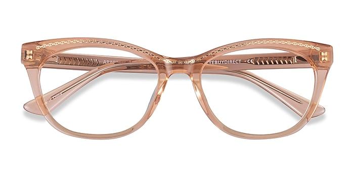 Clear Orange Gold Arabesque -  Acetate Eyeglasses