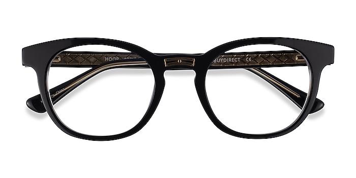 Black Gold Hoop -  Acetate Eyeglasses
