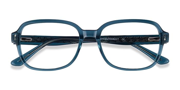 Clear Blue Patina -  Acetate Eyeglasses