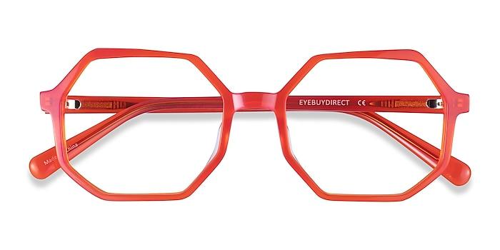 Iridescent Red Glister -  Acetate Eyeglasses