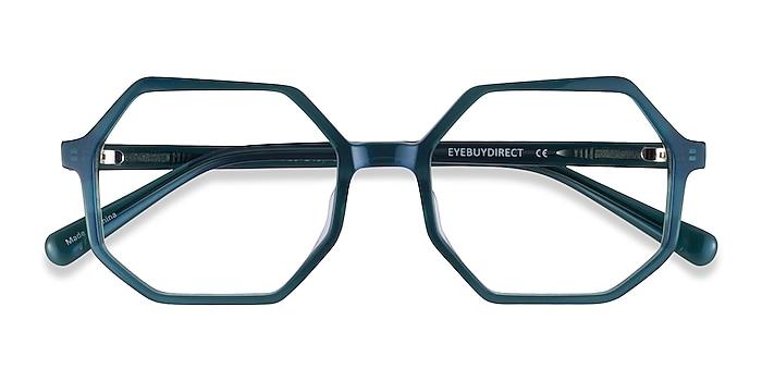 Iridescent Dark Green Glister -  Acetate Eyeglasses