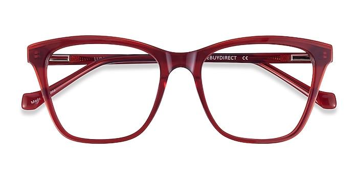 Iridescent Red Luminescence -  Acetate Eyeglasses