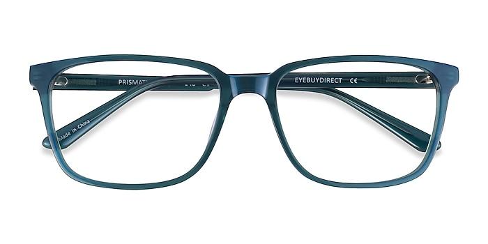 Iridescent Green Prismatic -  Acetate Eyeglasses
