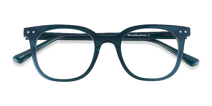 Iridecent Dark Green Kaleidoscope -  Acetate Eyeglasses