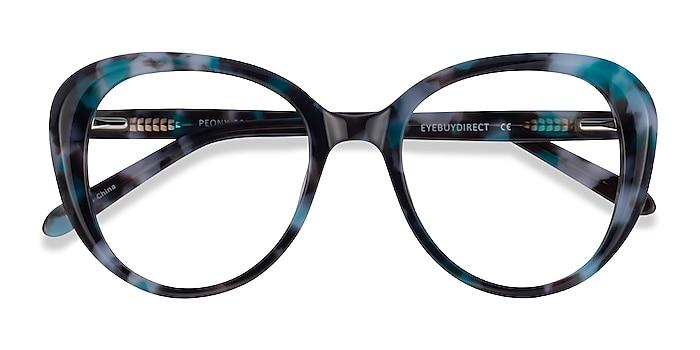 Blue Tortoise Peony -  Acetate Eyeglasses