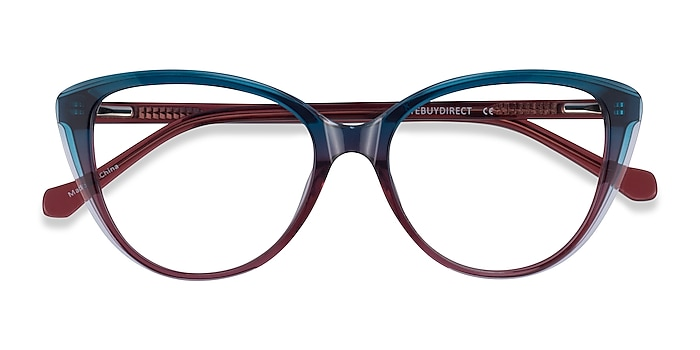 Blue Burgundy Destin -  Acetate Eyeglasses