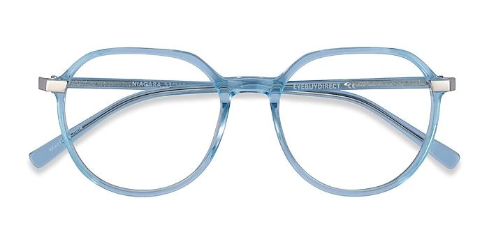 Clear Blue Niagara -  Acetate Eyeglasses