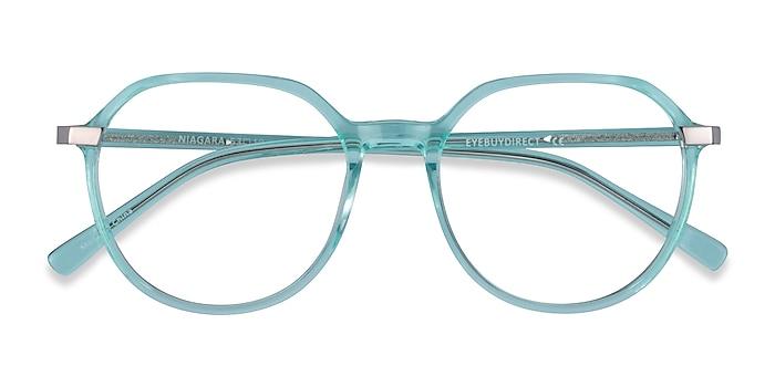 Clear Green Niagara -  Acetate Eyeglasses