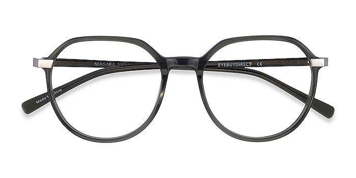 Clear Khaki Green Niagara -  Acetate Eyeglasses
