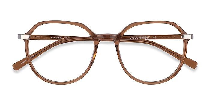 Clear Brown Niagara -  Acetate Eyeglasses