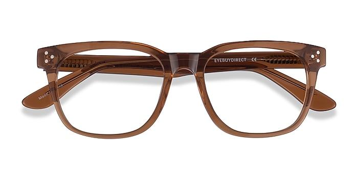 Clear Brown Adriatic -  Acetate Eyeglasses