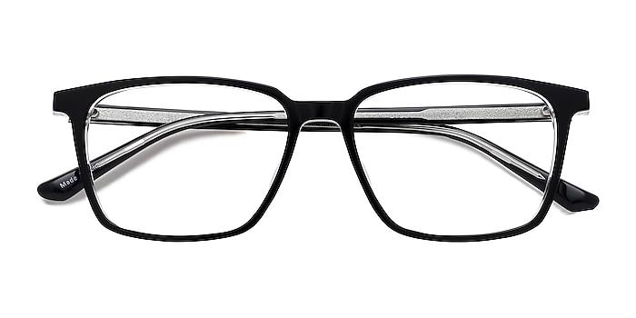Black   Clear Juliana -  Geek Acetate Eyeglasses
