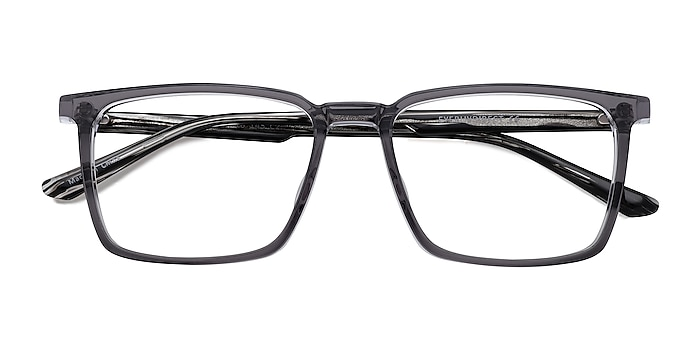 Clear Gray Striped Fjord -  Acetate Eyeglasses
