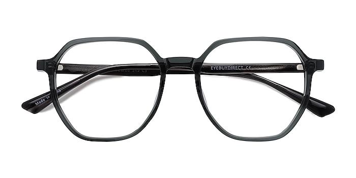 Clear Gray Tiki -  Geek Acetate Eyeglasses