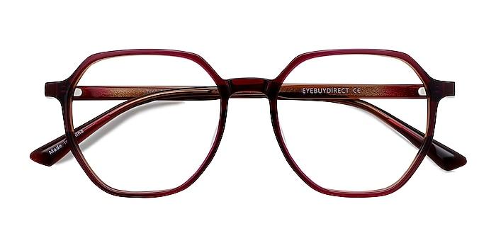 Brown   Pink Tiki -  Geek Acetate Eyeglasses