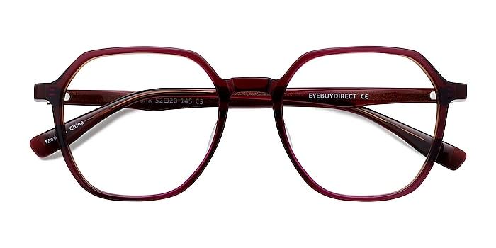 Brown   Pink Oscar -  Geek Acetate Eyeglasses