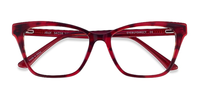Red Tortoise Jelly -  Acetate Eyeglasses